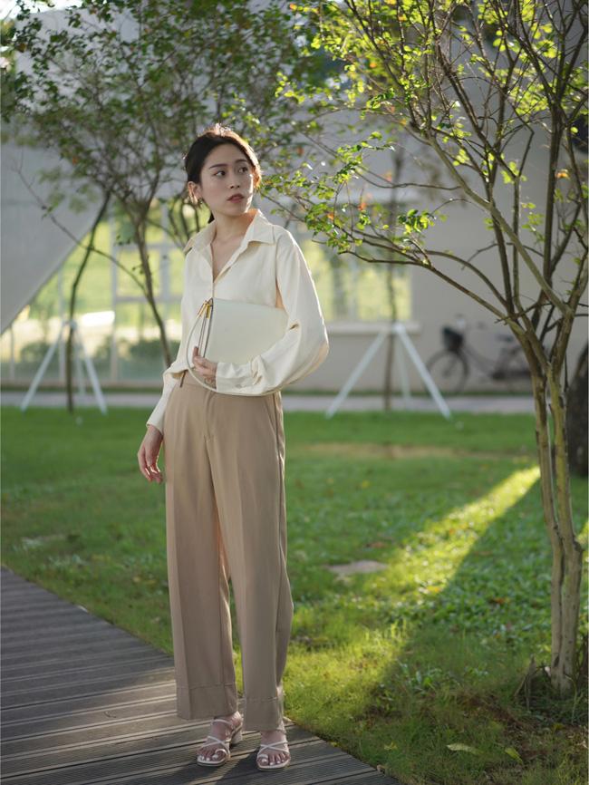 Street style Châu Á đồng loạt tẩy chay quần ôm, chỉ diện thiết kế ống rộng nhưng tạo được cả chục bộ đồ mặc đi làm đẹp hết nấc-7