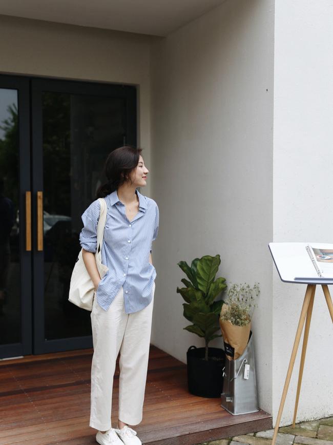 Street style Châu Á đồng loạt tẩy chay quần ôm, chỉ diện thiết kế ống rộng nhưng tạo được cả chục bộ đồ mặc đi làm đẹp hết nấc-9