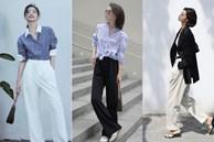 Street style Châu Á đồng loạt 'tẩy chay' quần ôm, chỉ diện thiết kế ống rộng nhưng tạo được cả chục bộ đồ mặc đi làm đẹp hết nấc