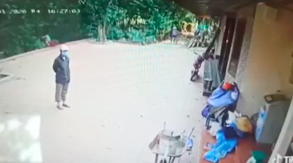 Kinh hãi khoảnh khắc bé trai đạp xe chơi trong sân nhà bất ngờ lao thẳng xuống vực mà người lớn không hề hay biết-2