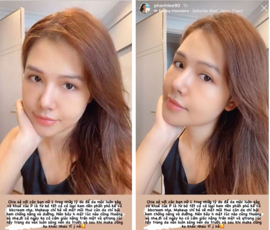 Phanh Lee vừa khoe màn biến hình nhờ makeup, dân tình chỉ mải ngắm mặt mộc của phu nhân tổng tài-3