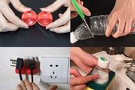 Chai nhựa cắt dán lên miếng cọ rửa lại hóa tác dụng thần kỳ chuyên sử dụng trong nhà bếp
