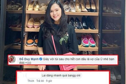 Quỳnh Anh khoác túi hàng hiệu khoe nhan sắc xinh đẹp sau sinh, Duy Mạnh lại phũ: