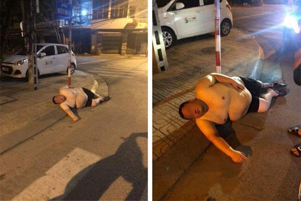 Gã đàn ông say ngất ngưởng bên đường khiến chàng trai muốn cứu mà lực bất tòng tâm, dân mạng liếc qua đã biết nguyên do xong chỉ lắc đầu cười: Gọi xe nâng cho nhanh!-1