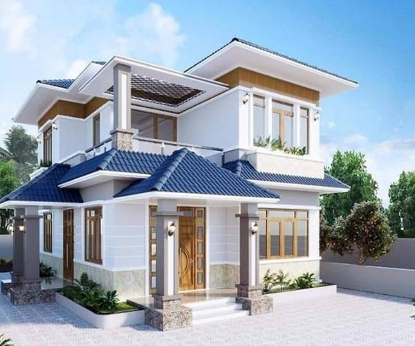 Mẫu nhà 2 tầng đẹp đơn giản hiện đại phù hợp cả nông thôn và thành thị-1