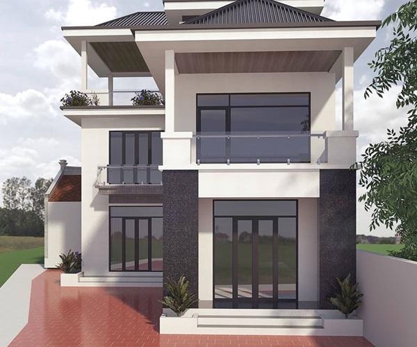 Mẫu nhà 2 tầng đẹp đơn giản hiện đại phù hợp cả nông thôn và thành thị-5