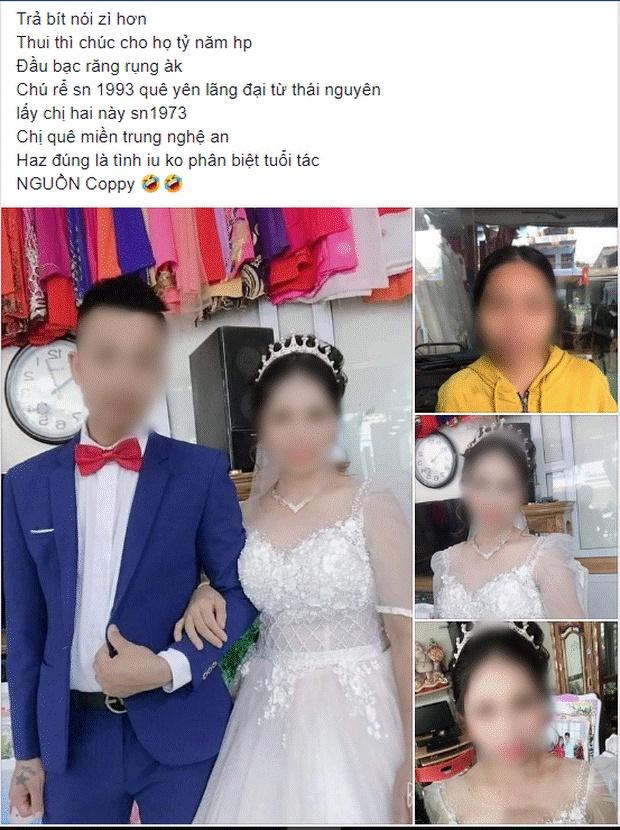 Xôn xao về loạt ảnh cưới của cặp đôi Thái Nguyên: Chú rể 27 cưới vợ 47 tuổi, xuất hiện những lời tố cáo từ người quen cô dâu!-1