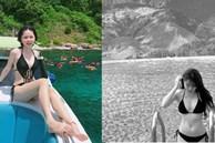 Bạn gái Quang Hải gây chú ý lần đầu khoe cận body gợi cảm khi diện bikini
