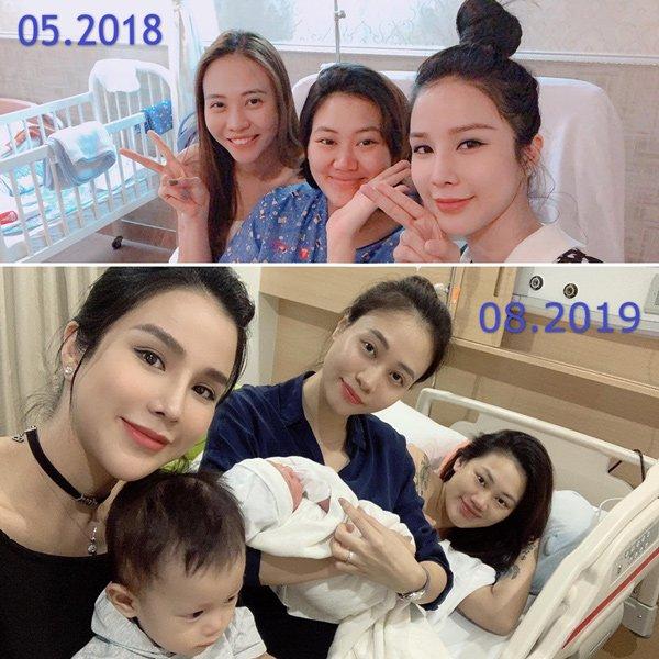Đọ sắc hội chị em toàn hot mom của Đàm Thu Trang khi làm bà đẻ: Người phá nét không nhận ra, người xinh đến mức bác sĩ phải khen-12