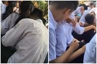 Học sinh làm chuyện táo bạo ngay giữa sân trường, cô giáo ra tay xử cả 'anh' lẫn 'chị'