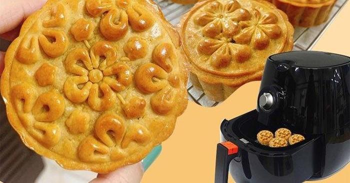 Mách bạn cách làm bánh trung thu bằng nồi chiên không dầu đơn giản mà chuẩn ngon-1