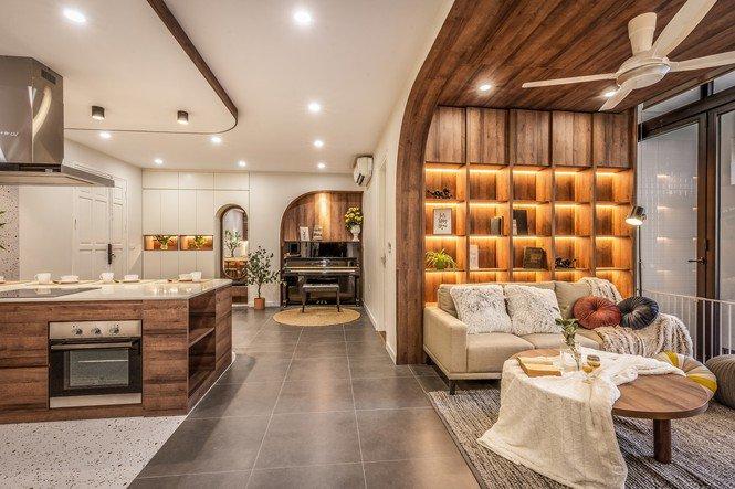 Chiêm ngưỡng căn chung cư đẹp mê hồn của vợ chồng trẻ ở Hà Nội-11