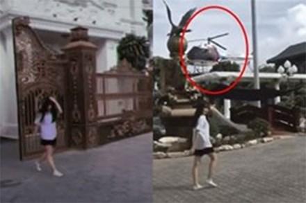 Truy tìm gái xinh bước ra từ siêu lâu đài, kế bên còn có trực thăng đang đợi