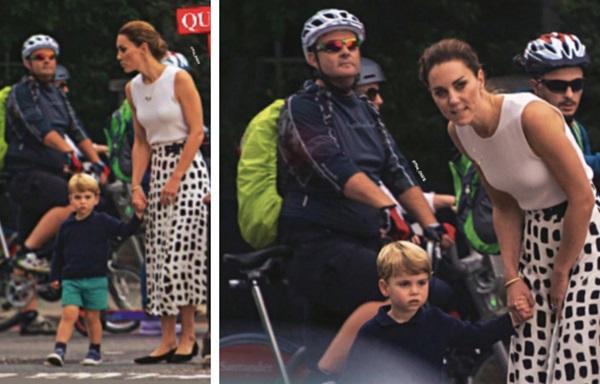 Công nương Kate gây sốt MXH bằng khoảnh khắc rời xe hơi, bế con trai út đi bộ giữa dòng người đông đúc lúc gặp cảnh tắc đường-2