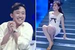 Hari Won trượt chân té ngã trên sân khấu, suýt lộ hàng vì mặc váy quá ngắn nhưng phản ứng của Trấn Thành mới là điều đáng nói