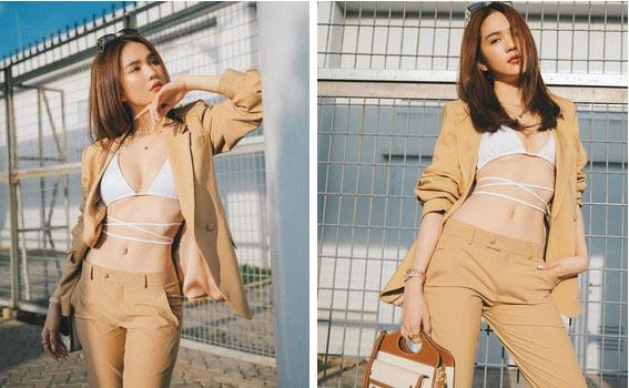 Ngọc Trinh mặc bikini gây náo loạn tại sân bay, dân tình đào ngay ra nữ chính VTV từng diện 4 năm trước, thậm chí còn táo bạo hơn nhiều-1