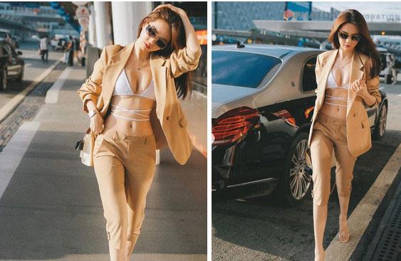 Ngọc Trinh mặc bikini gây náo loạn tại sân bay, dân tình đào ngay ra nữ chính VTV từng diện 4 năm trước, thậm chí còn táo bạo hơn nhiều-2