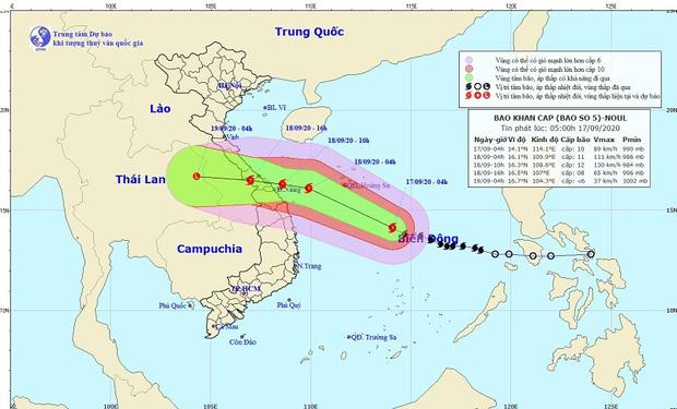 Bão số 5 di chuyển nhanh, giật cấp 13 hướng vào miền Trung gây mưa lớn trên cả nước-1