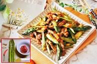 """Cách làm măng tây xào thịt bò: Món ngon đậm đà vừa """"sướng"""" miệng, vừa bổ dưỡng cho sức khỏe cả nhà"""