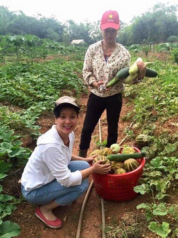 2 nữ nghệ sĩ mua nhà vườn thỏa đam mê: Rau củ chất đầy, thuê người làm không xuể việc-19