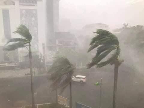 Ảnh, clip: Bão số 5 đổ bộ vào Thừa Thiên Huế gây mưa to gió giật kinh hoàng quật đổ cây xanh, giao thông hỗn loạn-2