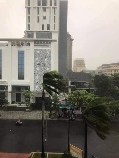 Ảnh, clip: Bão số 5 đổ bộ vào Thừa Thiên Huế gây mưa to gió giật kinh hoàng quật đổ cây xanh, giao thông hỗn loạn-3