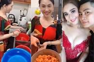 Lần đầu làm gái đảm, 'công chúa' Lâm Khánh Chi được chồng trẻ khen 'nổ mũi'