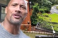 """""""The Rock"""" Dwayne Johnson tự phá tan cổng nhà vì muộn giờ đi làm"""