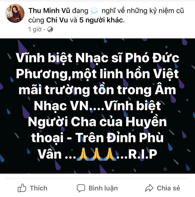 Tùng Dương, Thu Minh và dàn sao Vbiz xót thương khi hay tin nhạc sĩ Phó Đức Phương qua đời: Âm nhạc của ông sẽ luôn sống mãi!-5
