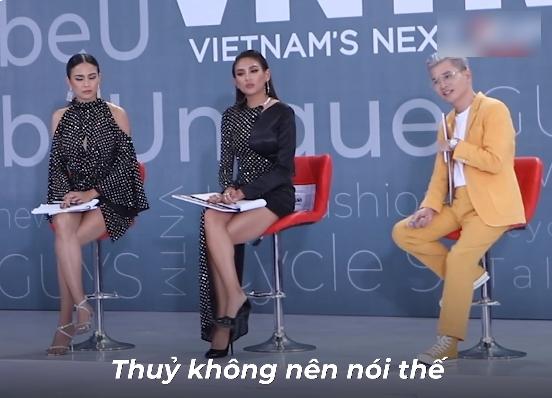 """Vietnams Next Top Model: Nam Trung bỗng hiền"""" không ngờ, lên tiếng nhắc nhở Mâu Thủy điều không nên nói với thí sinh-9"""