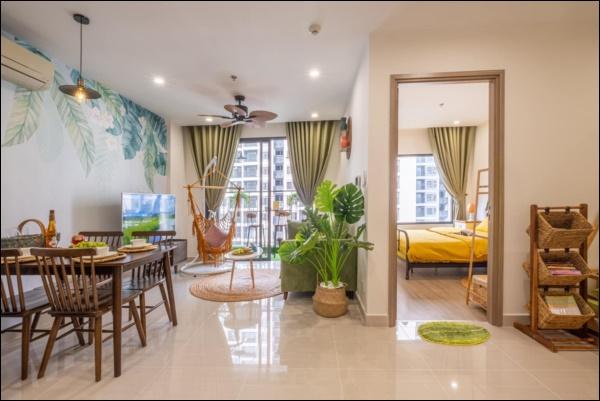 Thời Covid, cải tạo chung cư 43m2 thành homestay đẹp lung linh như trong phim với chi phí siêu tiết kiệm-2