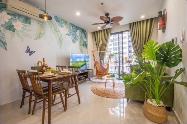 Thời Covid, cải tạo chung cư 43m2 thành homestay đẹp lung linh như trong phim với chi phí siêu tiết kiệm-1