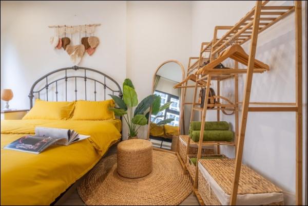 Thời Covid, cải tạo chung cư 43m2 thành homestay đẹp lung linh như trong phim với chi phí siêu tiết kiệm-9