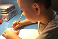 Con vào lớp 1: Học đến 11 rưỡi đêm, tay cầm bút viết run run vẫn vật lộn với bài tập về nhà, tôi có nên thừa nhận mình thất bại?