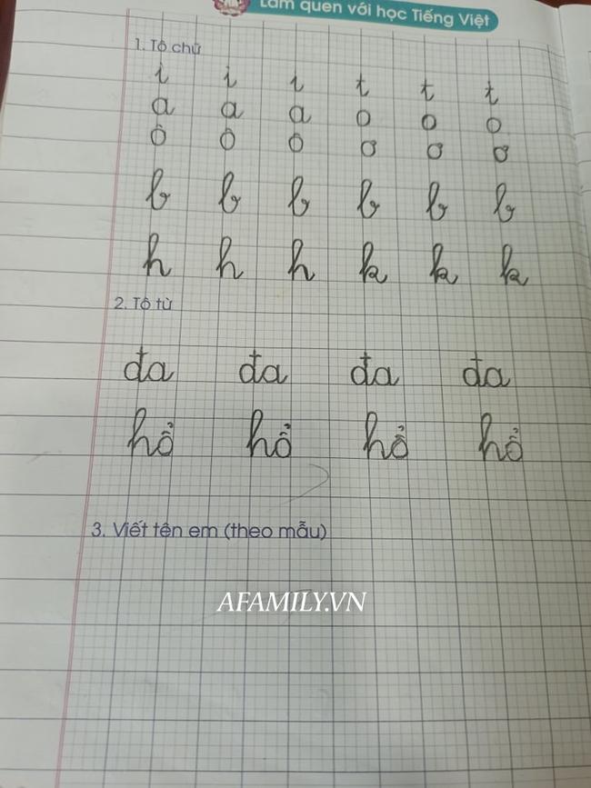 Con vào lớp 1: Học đến 11 rưỡi đêm, tay cầm bút viết run run vẫn vật lộn với bài tập về nhà, tôi có nên thừa nhận mình thất bại?-2