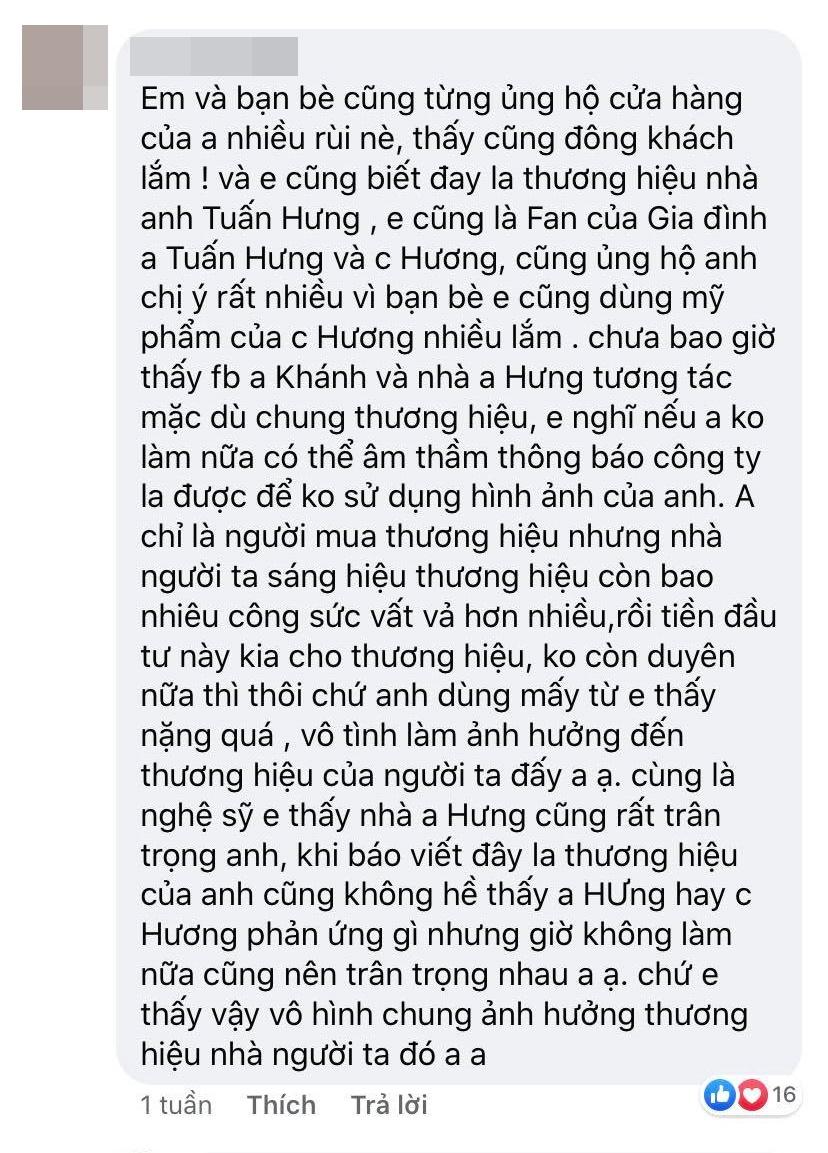 """Nghi vấn vợ chồng Tuấn Hưng và diễn viên Huy Khánh đá xéo"""" nhau sau khi hợp tác làm ăn thua lỗ cả trăm triệu đồng?-4"""