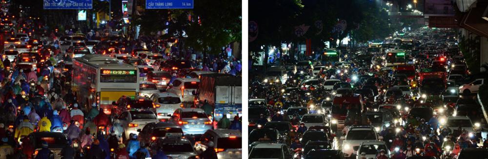 Đường phố Hà Nội đang ùn tắc kinh hoàng hàng giờ liền sau trận mưa lớn, dân công sở kêu trời vì không thể về nhà-4