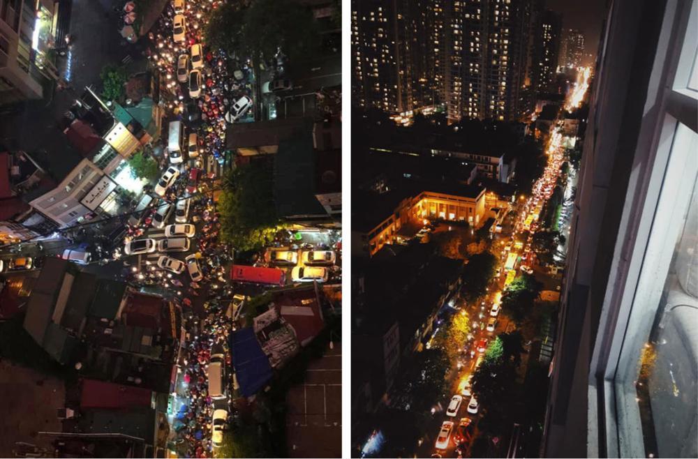 Đường phố Hà Nội đang ùn tắc kinh hoàng hàng giờ liền sau trận mưa lớn, dân công sở kêu trời vì không thể về nhà-12
