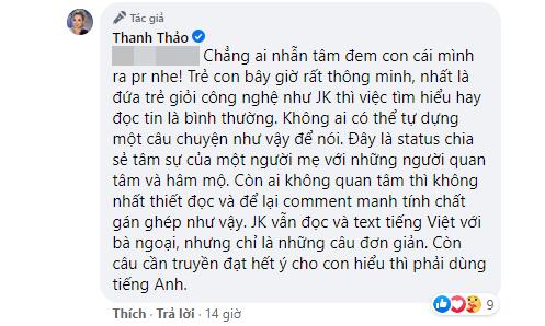 Thanh Thảo tiếp tục lên tiếng gay gắt giữa tranh cãi câu chuyện con trai Ngô Kiến Huy không muốn nhận bố ruột-2