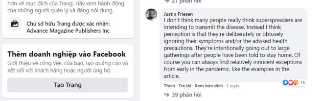 Nói sai về chống COVID-19 ở Việt Nam, bệnh nhân 17 bị độc giả Mỹ ném đá tơi tả-2