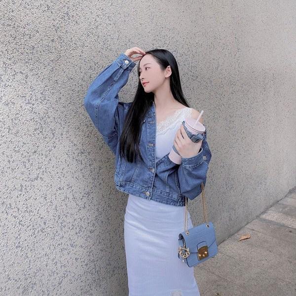 Kiểu áo khoác cá tính được dàn mỹ nhân Việt ưu ái, diện vào mùa thu là chuẩn xinh-7