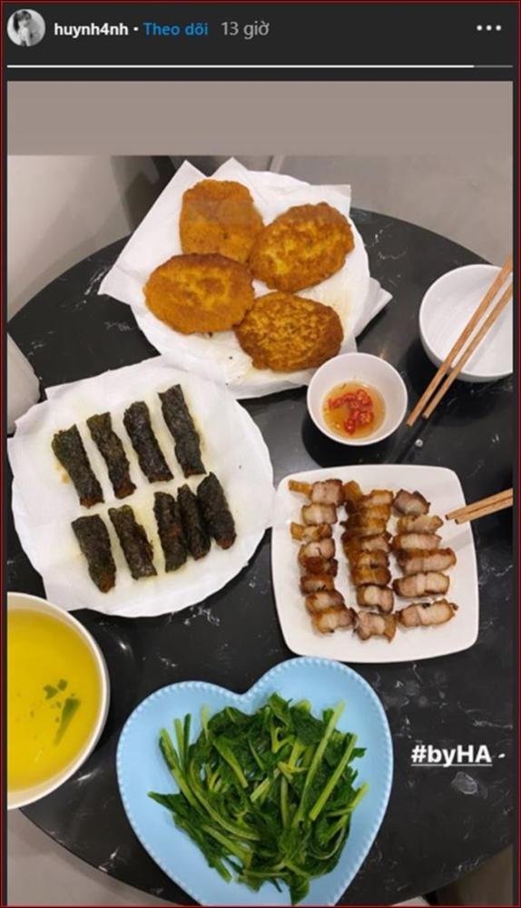 Huỳnh Anh khoe mâm cơm 2 người ăn do chính mình trổ tài,dân tình chúc mừng Quang Hải Đúng là có số hưởng-4