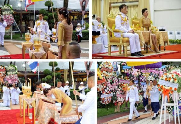 Hoàng hậu Thái Lan lần đầu xuất hiện sau khi Hoàng quý phi được phục vị, gây chú ý với vẻ ngoại hình trẻ trung và sự thân thiện-1