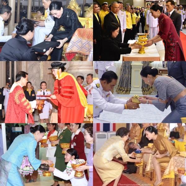 Hoàng hậu Thái Lan lần đầu xuất hiện sau khi Hoàng quý phi được phục vị, gây chú ý với vẻ ngoại hình trẻ trung và sự thân thiện-2
