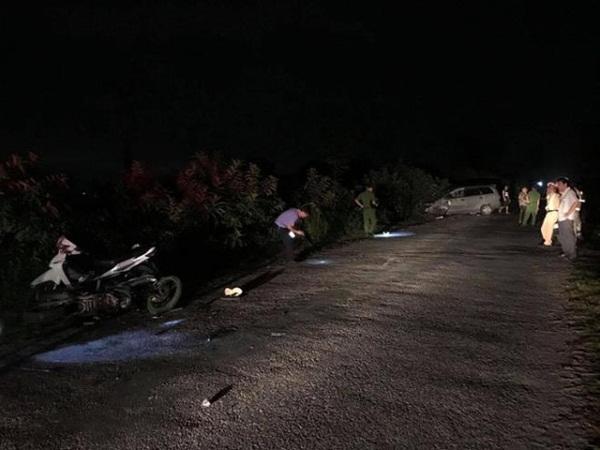 Hải Dương: Ô tô đâm 4 xe máy ngược chiều, 9 người bị thương-1