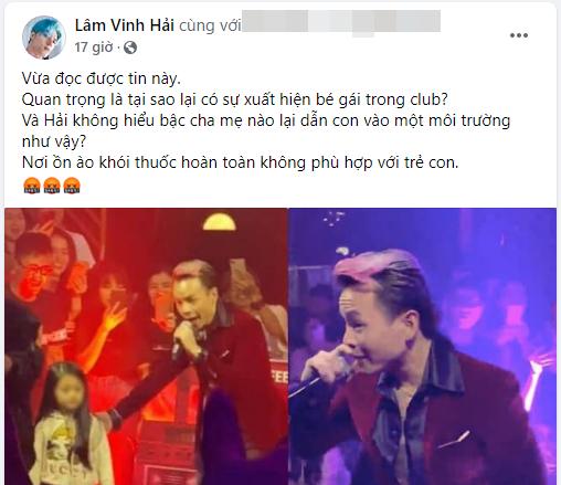 Lâm Vinh Hải lên án việc cho trẻ em vào quán bar nhưng lại bị đào mộ chuyện vô tâm với con gái mình, bất ngờ Ngọc Trinh lại bị nhắc tên-1