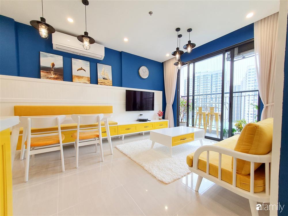 Căn hộ 75m² tràn đầy sức sống với cách phối màu vàng - xanh tinh tế có chi phí hoàn thiện 270 triệu đồng ở Hà Nội-1