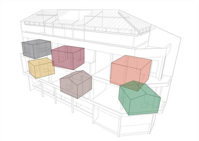 Căn nhà như những tổ chim nhiều màu sắc độc lạ ở Vũng Tàu-2