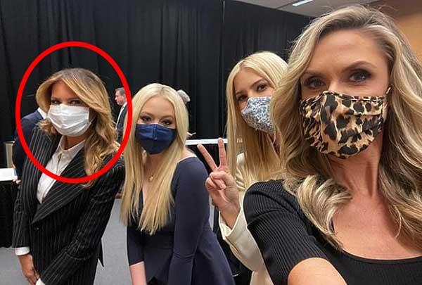 Đệ nhất phu nhân Mỹ Melania Trump đóng bộ suit hàng hiệu cùng gia đình chạm trán quý phu nhân phía đối thủ Joe Biden trong cuộc tranh luận Tổng thống-10