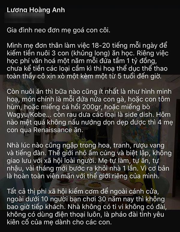 Vợ cũ Huy Khánh: Con chị tiền học 1 tỷ/năm, nuôi ăn mỗi bữa tôm hùm, cá hồi, bò Wagyu-6